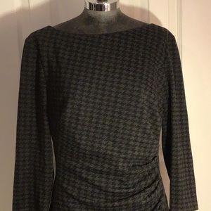 Lauren by Ralph Lauren black/gray dress Sz 18